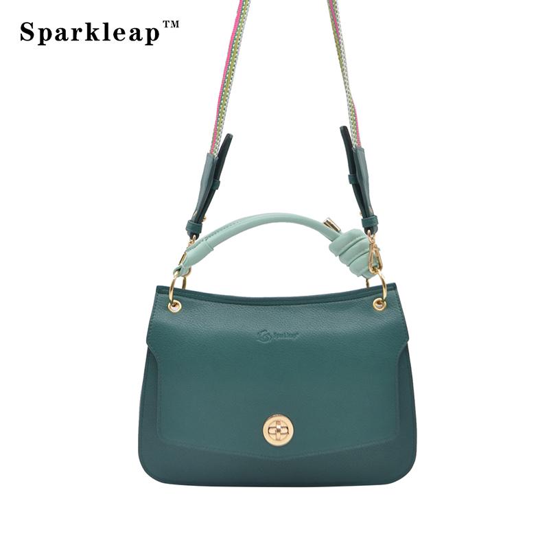 依诺腾新款翡翠绿气质单肩手提包包